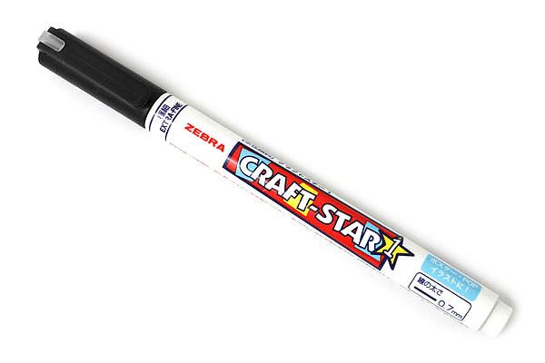 Zebra Craft-Star 1 Marker - 0.7 mm - Black - ZEBRA WYSSZ8-BK