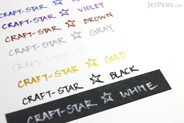 Zebra Craft-Star 1 Marker - 0.7 mm - Gold - ZEBRA WYSSZ8-GO
