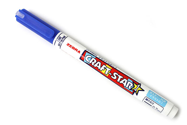 Zebra Craft-Star 1 Marker - 0.7 mm - Blue - ZEBRA WYSSZ8-BL