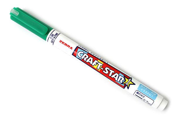 Zebra Craft-Star 1 Marker - 0.7 mm - Green - ZEBRA WYSSZ8-G