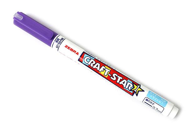 Zebra Craft-Star 1 Marker - 0.7 mm - Violet - ZEBRA WYSSZ8-PU