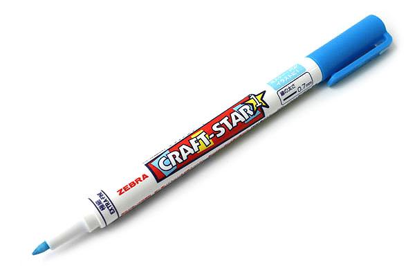 Zebra Craft-Star 1 Marker - 0.7 mm - Light Blue - ZEBRA WYSSZ8-LB