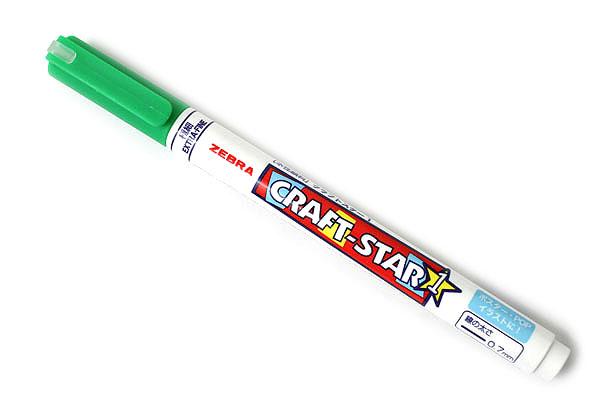 Zebra Craft-Star 1 Marker - 0.7 mm - Light Green - ZEBRA WYSSZ8-LG