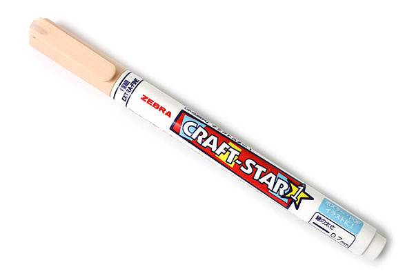 Zebra Craft-Star 1 Marker - 0.7 mm - Pale Orange - ZEBRA WYSSZ8-PO