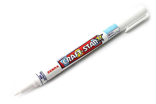 Zebra Craft-Star 1 Marker - 0.7 mm - White - ZEBRA WYSSZ8-W