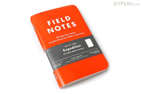 """Field Notes Color Cover Memo Book - Expedition Limited Edition - 3.5"""" X 5.5"""" - 48 Pages - 5 mm Dot Grid - Pack of 3 - FIELD NOTES FNC-17"""