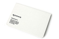"Metaphys Blanc Fabric Cover Memo Pad - 5.1"" x 3.4"" - White - METAPHYS 44110-WH"