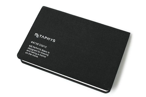 "Metaphys Blanc Fabric Cover Memo Pad - 5.1"" x 3.4"" - Black - METAPHYS 44110-BK"