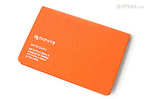 "Metaphys Blanc Fabric Cover Memo Pad - 5.1"" x 3.4"" - Orange - METAPHYS 44110-OR"