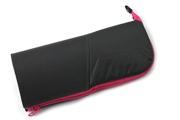 Kokuyo Neo Critz Transformer Pencil Case - Dark Gray / Pink - KOKUYO F-VBF121-4