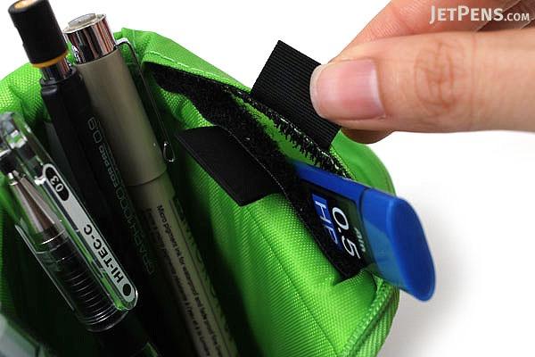 Kokuyo Neo Critz Transformer Pencil Case - Dark Green / Light Green - KOKUYO F-VBF121-5