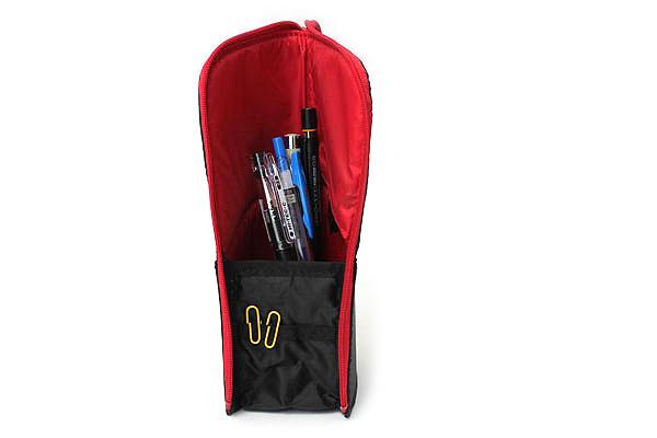 Kokuyo Neo Critz Transformer Pencil Case - Black / Red - KOKUYO F-VBF121-6