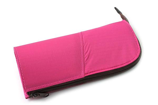 Kokuyo Neo Critz Transformer Pencil Case - Pink / Brown Dot - KOKUYO F-VBF121-8