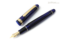 Platinum 3776 Century Fountain Pen - Chartres Blue - Fine Nib - PLATINUM PNB-10000 51-F