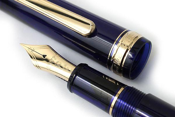 Platinum 3776 Century Fountain Pen - Extra Fine Nib - Chartres Blue Body - PLATINUM PNB-10000 51-EF