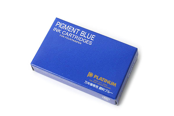 Platinum SPG-500 Fountain Pen Ink Cartridge - Pigment Blue Ink - Pack of 10 - PLATINUM SPG-500 60