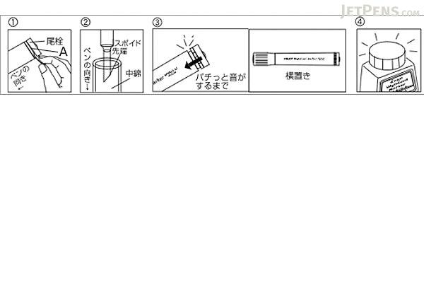 Pilot Wytebord Whiteboard Marker Ink Refill - 30 ml - Black - PILOT WBMA-40RF-B