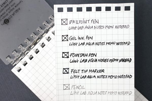 Writing Sample for Lihit Lab Aqua Drops Notepad