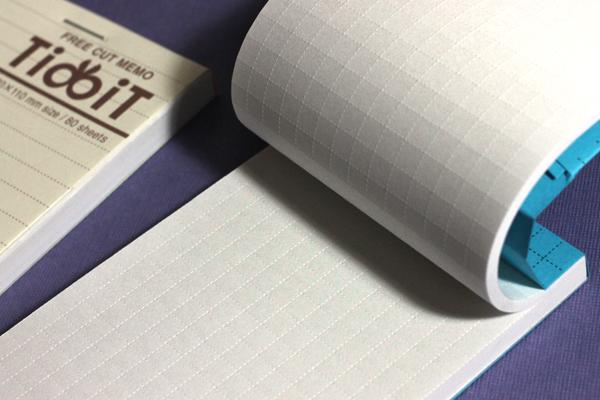 Perforations on Kokuyo Tidbit Free Cut Memo Pad