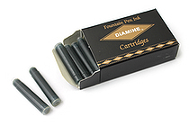 Diamine Fountain Pen Ink Cartridge - Blue Black - Pack of 18 - DIAMINE INK 8001