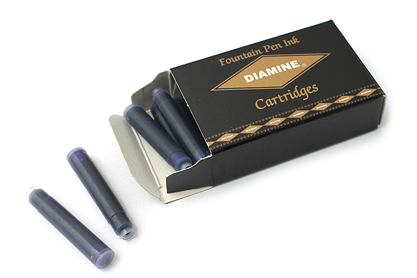 Diamine Fountain Pen Ink Cartridge - Sapphire Blue - Pack of 18 - DIAMINE INK 8034