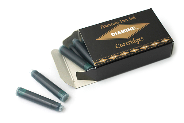 Diamine Fountain Pen Ink Cartridge - Woodland Green - Pack of 18 - DIAMINE INK 8037