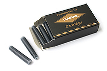 Diamine Fountain Pen Ink Cartridge - Jet Black - Pack of 18 - DIAMINE INK 8000