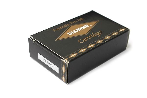 Diamine Fountain Pen Ink Cartridge - Jet Black - Pack of 18 - DIAMINE INK 8000