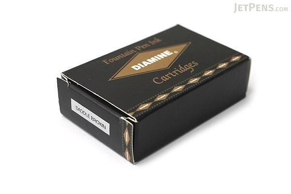 Diamine Fountain Pen Ink Cartridge - Saddle Brown - Pack of 18 - DIAMINE INK 8046