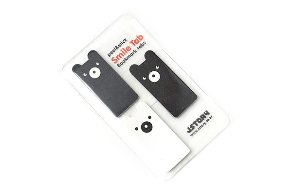 Jstory Smile Tab Stickers - Bear - JSTORY SMILE BEAR