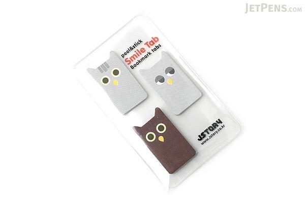 Jstory Smile Tab Stickers - Owl - JSTORY SMILE OWL