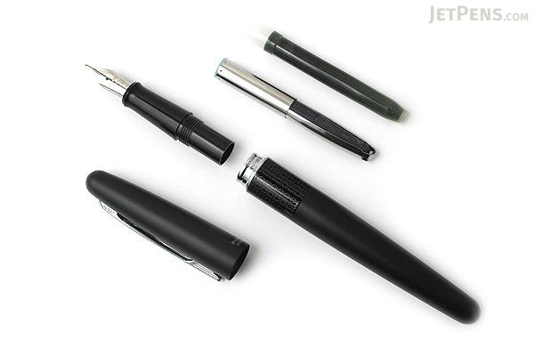 Pilot Metropolitan Fountain Pen - Black Zigzag - Medium Nib - PILOT MRFC1BLKMBLKZ