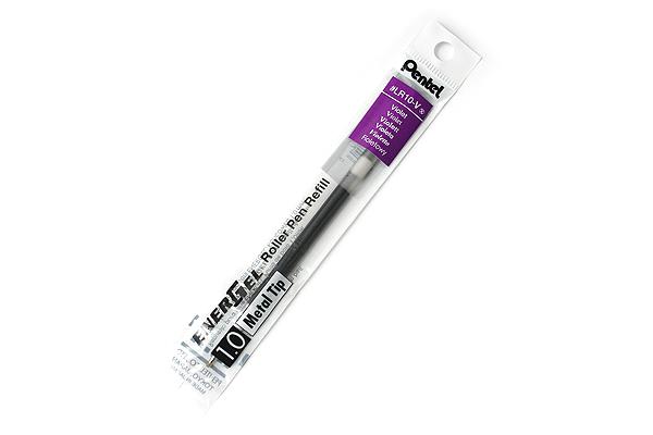 Pentel EnerGel LR10 Gel Pen Refill - 1.0 mm - Violet - PENTEL LR10-V