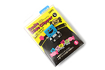 Ohto Smile Slide Clipper Paper Clip - Large - Vivid Color Set - Pack of 5 - OHTO SLS-500L-V