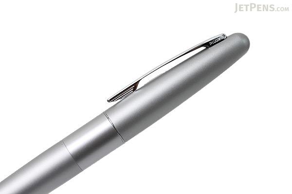 Pilot Cocoon Fountain Pen - Silver - Medium Nib - PILOT FCO-3SR-S-M