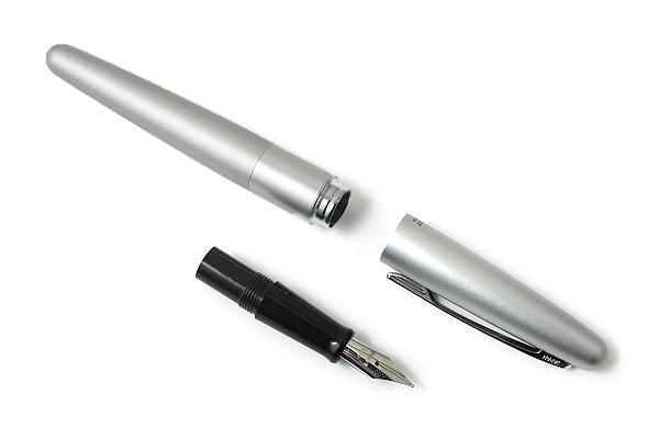 Pilot Cocoon Fountain Pen - Fine Nib - Silver Body - PILOT FCO-3SR-S-F