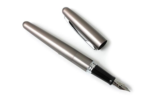 Pilot Cocoon Fountain Pen - Medium Nib - Titanium Body - PILOT FCO-3SR-TI-M