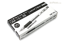 Uni-ball Signo UM-151 Gel Pen - 0.28 mm - Black - 10 Pen Set - UNI UM15128.24 10SET