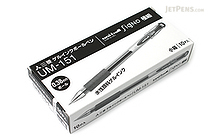 Uni-ball Signo UM-151 Gel Pen - 0.38 mm - Black - 10 Pen Set - UNI UM151.24 10SET