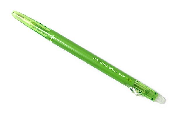 Pilot FriXion Ball Slim Gel Pen - 0.38 mm - Light Green - PILOT LFBS-18UF-LG