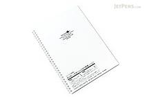 Lihit Lab Aqua Drops Twist Ring Notebook - Semi B5 - Lined - Milky White Clear - LIHIT LAB N-1608-1
