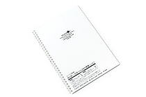 Lihit Lab Aqua Drops Twist Ring Notebook - Semi B5 - Lined - Milky White Clear - LIHIT LAB N-1608-1