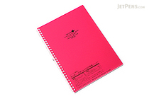 Lihit Lab Aqua Drops Twist Ring Notebook - Semi B5 - Lined - Red Pink - LIHIT LAB N-1608-3