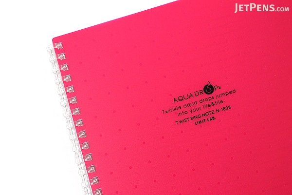 Lihit Lab Aqua Drops Twist Ring Notebook - Semi B5 - Lined - Red Pink - LIHIT LAB N-1608-3