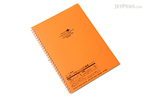 Lihit Lab Aqua Drops Twist Ring Notebook - Semi B5 - Lined - Orange - LIHIT LAB N-1608-4
