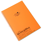 Lihit Lab Aqua Drops Twist Ring Notebook - Semi B5 - Lined - 30 Sheets - Orange