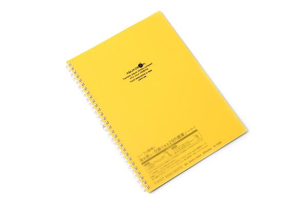 Lihit Lab Aqua Drops Twist Ring Notebook - Semi B5 - Lined - Yellow - LIHIT LAB N-1608-5