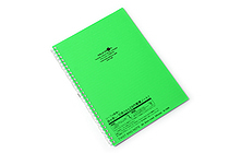 Lihit Lab Aqua Drops Twist Ring Notebook - Semi B5 - Lined - Yellow Green - LIHIT LAB N-1608-6