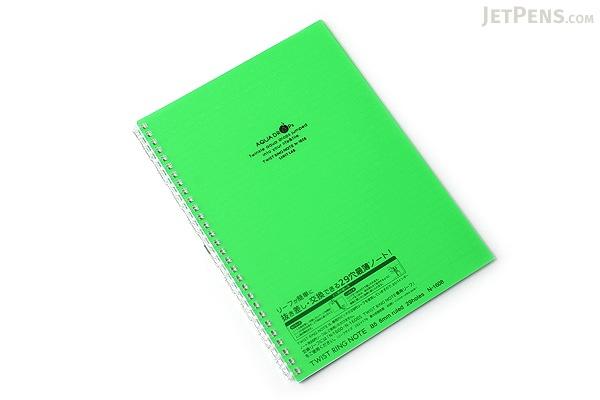 Lihit Lab Aqua Drops Twist Ring Notebook - Semi B5 - Lined - Yellow Green - LIHIT LAB N-1608-6