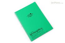 Lihit Lab Aqua Drops Twist Ring Notebook - Semi B5 - Lined - Green - LIHIT LAB N-1608-7